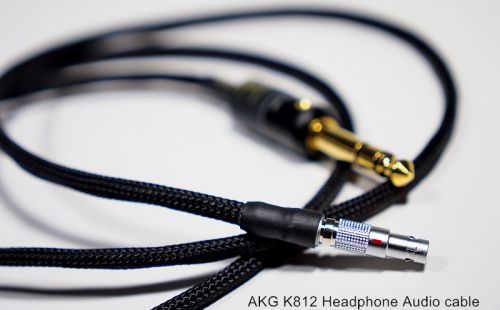 akg k812德国金银耳机升级线 1.5m